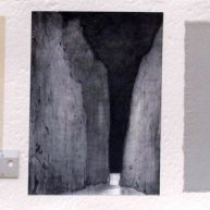 Torrent de Pareis, 1994. Collage y T. mixta/papel, 40 x 125 cm